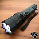 Metal POLICE Stun Gun 265 Million Volt Rechargeable LED Flashlight + Taser Case