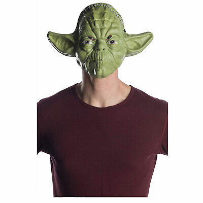Ben Cooper Star Wars Yoda Costume Half Mask 70's Vintage Style Retro Halloween  - Yoda Masks