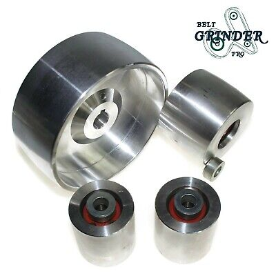 "Belt Grinder 2x72 wheel set knife grinder 5"" Drive 5/8"" bore 3"" track 2"" Idler"