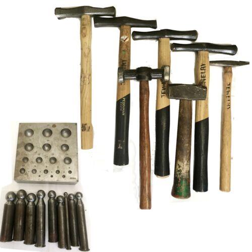 Dapping Punch Set DAPPING BLOCK ITALIAN, PEDDIMAN AND MISC HAMMERS USED