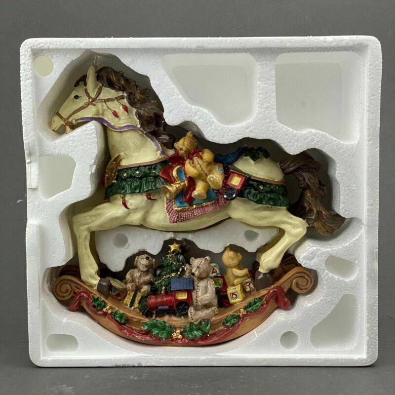 Cedar Creek Collection Rocking Horse Christmas Horse Decor With Bears
