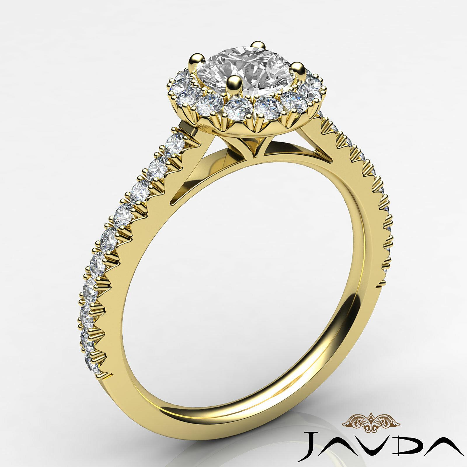 1.5ctw Double Prong Round Diamond Engagement Ring GIA E-VS2 White Gold Women New 7