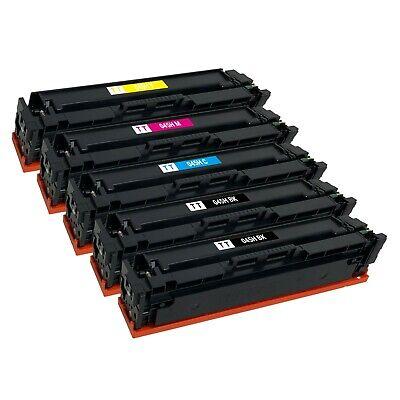 5 x Color Toner Cartridge for Canon 045 H LBP-612cdw MF632cdw MF634cdw MF633cdw