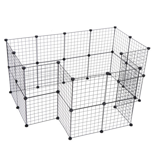 Pet Playpen Includes Cable Ties Metal Wire Apartment Style TwoStorey Bunny Cages, Hutches & Enclosure