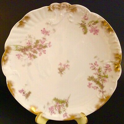 Vintage Smoky Pink Flower Dish