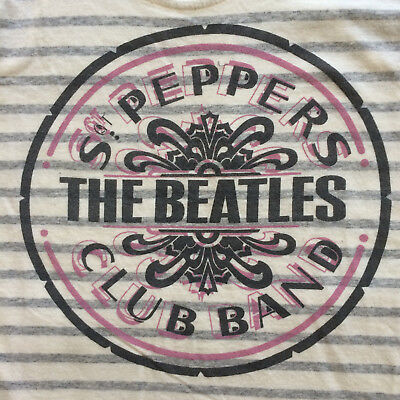 Sgt Pepper Tank Top NWT Beatles Junk Food Striped Shirt Official Licensed S NEW