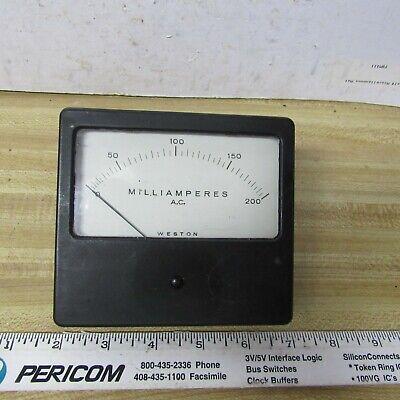 Meter Panel 200 Ma Ac 4.5 X 4 Inch Weston Ham Radio