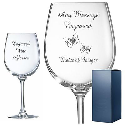 Engraved glasses allow personal messages
