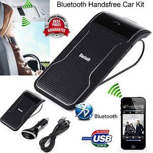 Hands-free Multipoint Wireless Bluetooth Speakerphone Speaker Car Kit Visor Clip