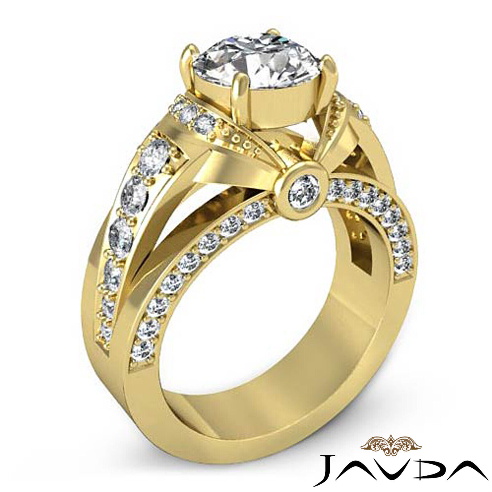 1.7ct Knot Classic Sidestone Round Diamond Engagement Ring GIA H-VVS2 White Gold 8
