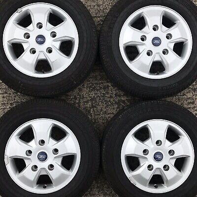 Genuine Ford Transit Custom 16 Van Alloy Wheels Continental Tyres 215 65 5 spoke
