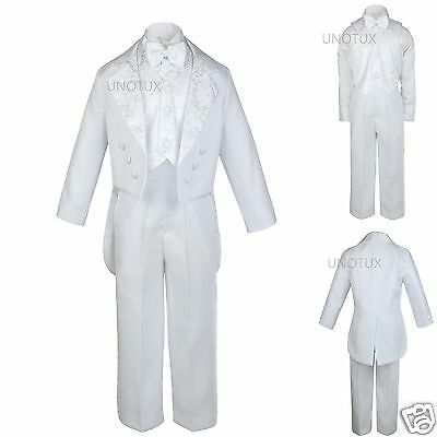 Baby Child & Boys Wedding Communion Recital Formal Party Tuxedo Suits White - Communion Suits Boys