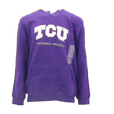 TCU Horned Frogs Official NCAA Apparel Kids Youth Size Hooded Sweatshirt New - Tcu Apparel