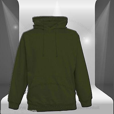 Hoodie Kapuzenpullover Sweatshirt Übergröße Uni XS S M L XL XXL3XL 4XL 5XL Sport