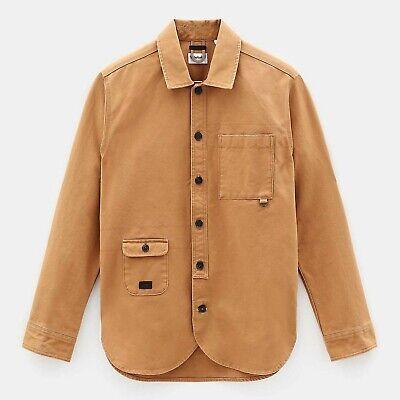 Timberland chemise surchemise veste toile epaisse marron ocre camel xxl