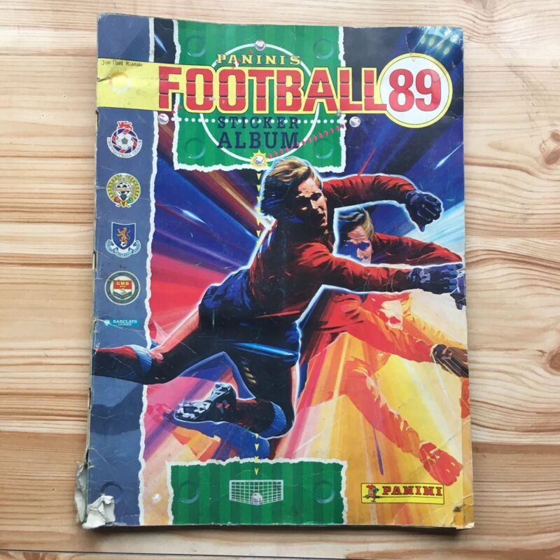 1989 Vintage Panini Football Sticker Album Book 100% Complete (480 Stickers) 89