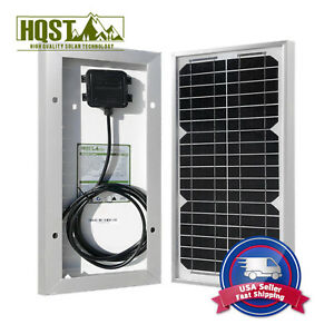 Open BOX 10W Mono Solar Panel 12 Volt Battery Charger Camping Hiking Final Sale