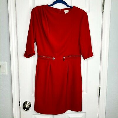 Hoss Intropia with Love Womens Euro Size 40 US Size 8 Red Cocktail Dress