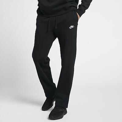NIKE Men Sportswear Club Fleece Pants Black White 804395 010 - XLT New