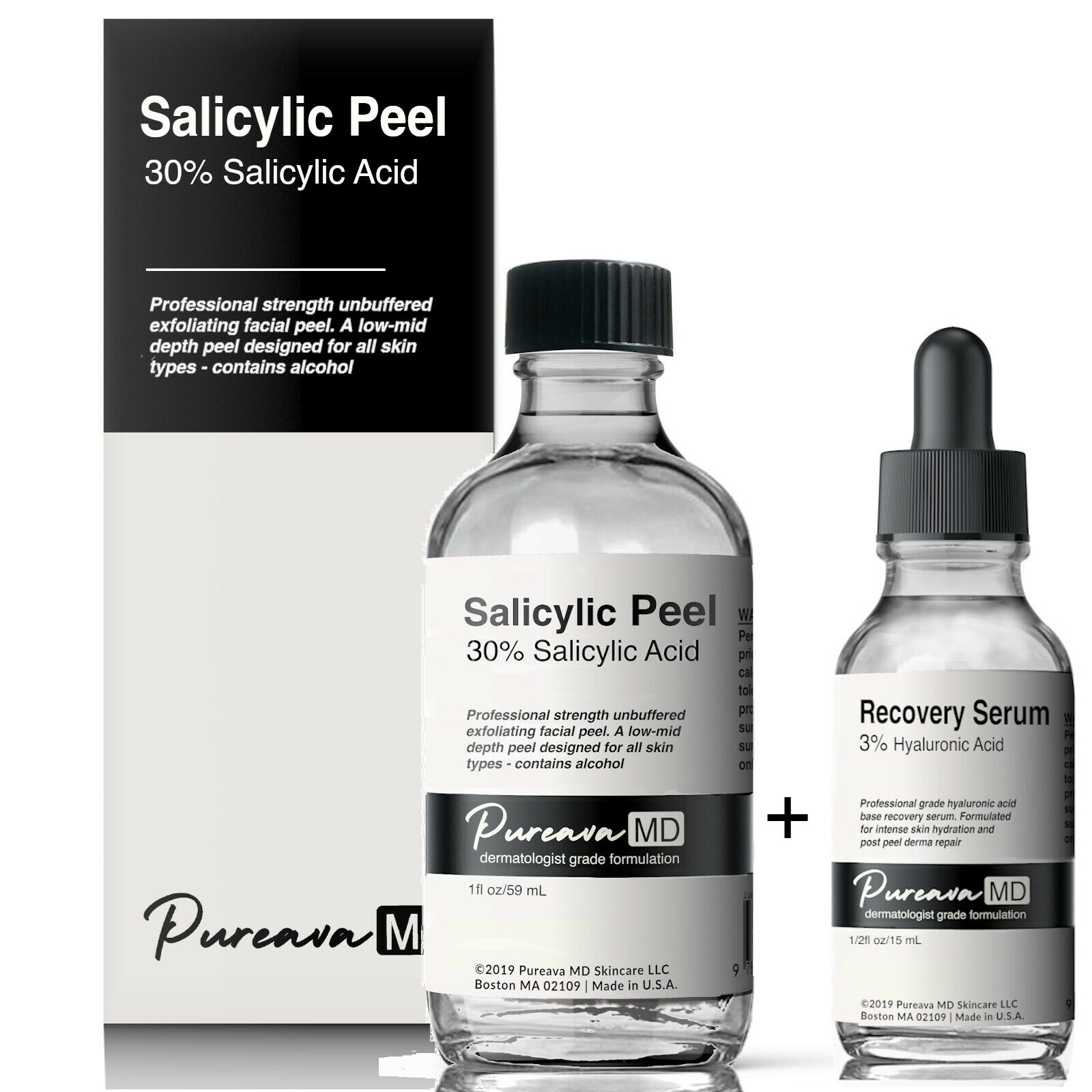 10% 20% 30% 40% Salicylic Acid Chemical Skin Peel Kit+ Hyalu