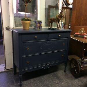 PERFECT VANITY PIECE! Refinished Antique dresser $200