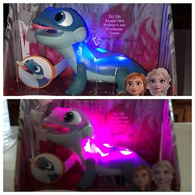 DISNEY FROZEN 2 BRUNI SALAMANDER FIRE SPIRITS SNOWY SNACK LIGHT UP TOY