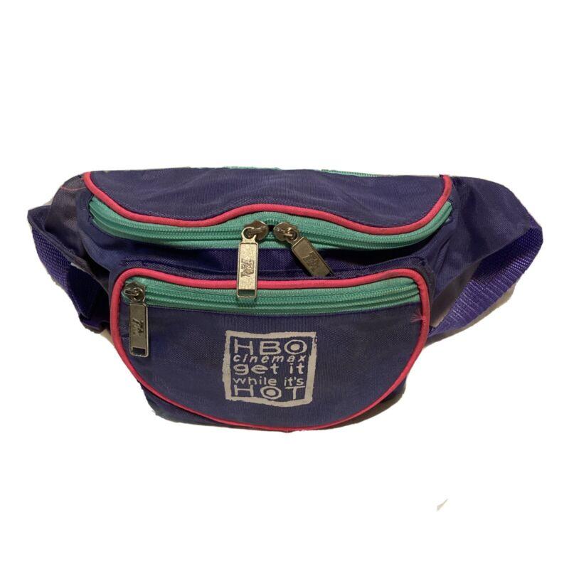 TA Vintage Neon Purple Fanny Pack Festival Bag Waist Pack Purple HBO Cinemax
