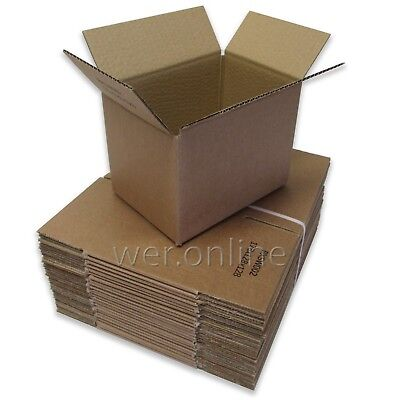 25 x Small Packaging Postal Cardboard Boxes 7 x 5 x 5