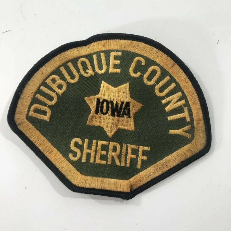 Vintage Dubuque County Iowa Sheriff Patch Uniform Shoulder