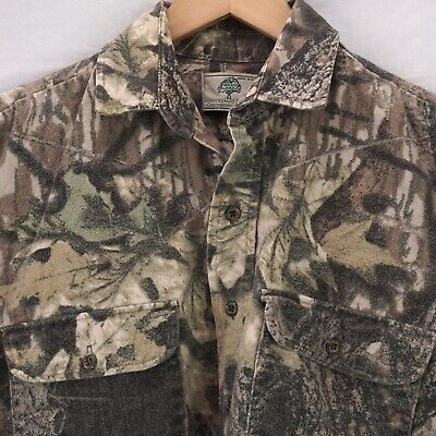 2320d01fd1e33 VINTAGE MOSSY OAK LONG SLEEVE SHIRT CAMO CAMOUFLAGE CHAMOIS USA MADE MENS XL