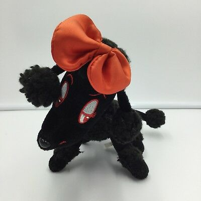 Toy Works Black Red Poodle Plush 9