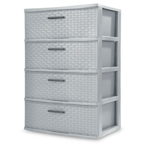 4 Drawer Removable Bins - Storage Furniture Unit , For Bedroom, Nursery, Closet