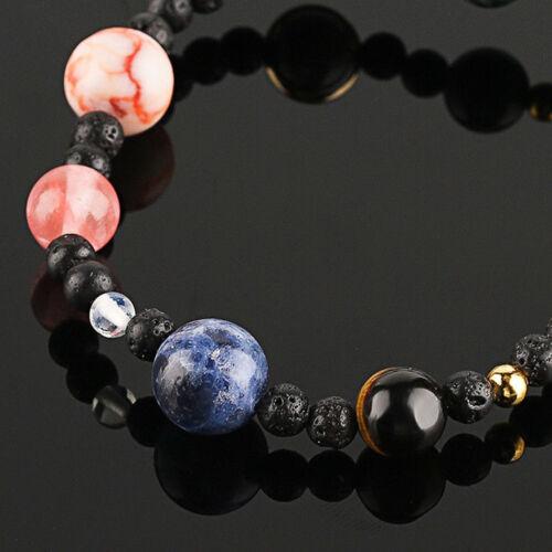 Diy Weben Armband Galaxy Sonnensystem Acht Planeten Thema Naturstein Perlen L-1