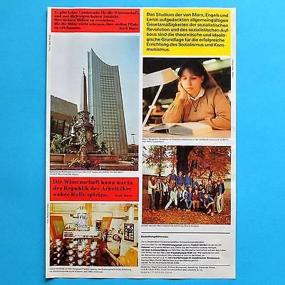 DDR Plakat Poster 372 | Karl Marx Jahr 1983 | 41 x 29 cm Orig. Leipzig Rathenow