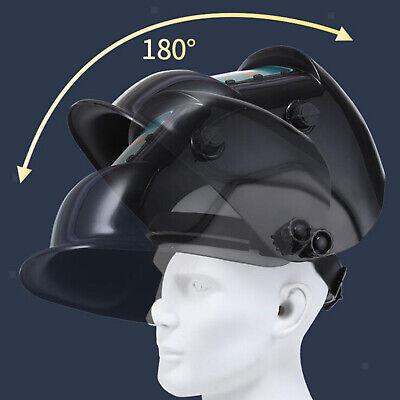 Auto Darkening Welding Helmet Solar Power Eye Shield Protect Eyes Face Cover