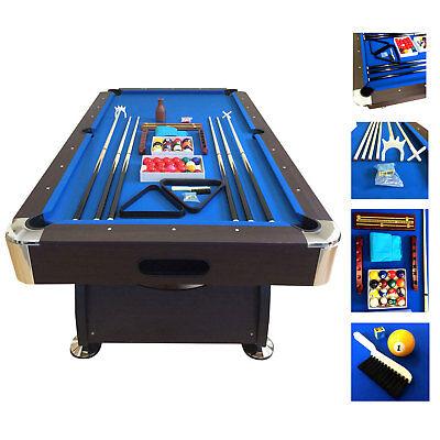 7' Feet Billiard Pool Table Snooker Full Set Accessories Game mod. Blue Sea for sale  Miami