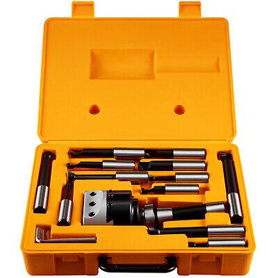 12pcs 3 Boring Head R8 Shank 34 Carbide Boring Bar Set Combo Milling