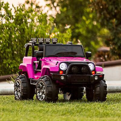 Power Wheels For Girl Jeep Electric Car Kids Ride On Toys Outdoor 12V RC Best