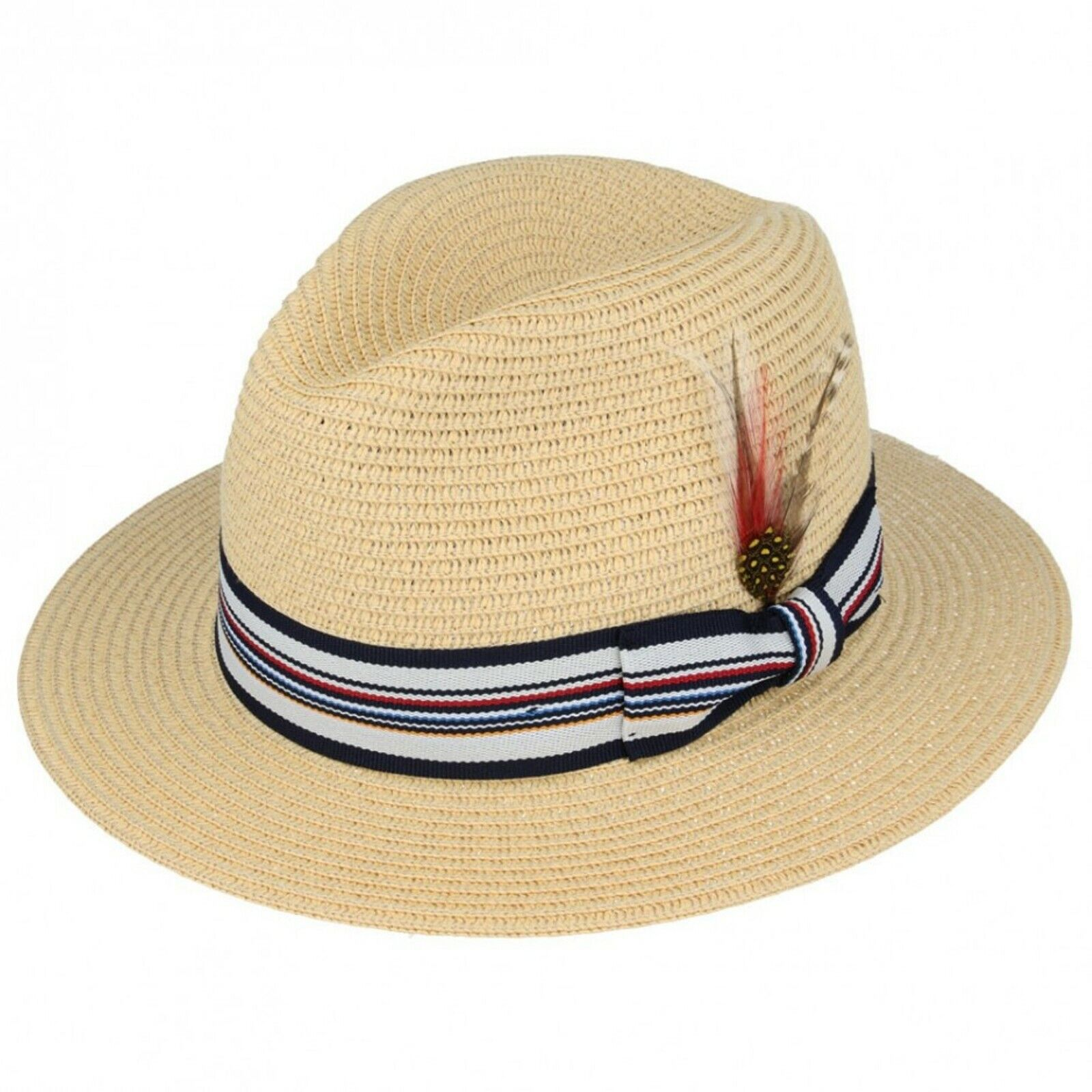Cookisn Beach Sun Hat Large Brim Panama Hat Paper Straw Cap Black Ribbon