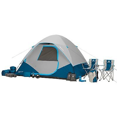28-Piece Camping Combo Set Ozark Trail 6 Persons Cabin Tent