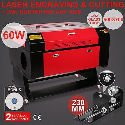 60w Co2 laser graviermaschine Rotary Axis hochpräzise Cutter Lasergravierer
