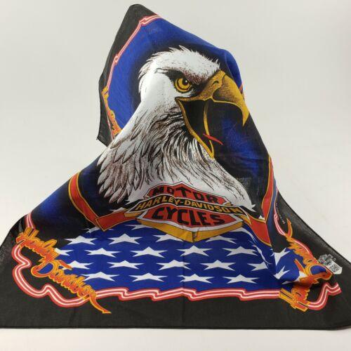 Vintage Harley Davidson Bandana Screaming Eagle Made In USA