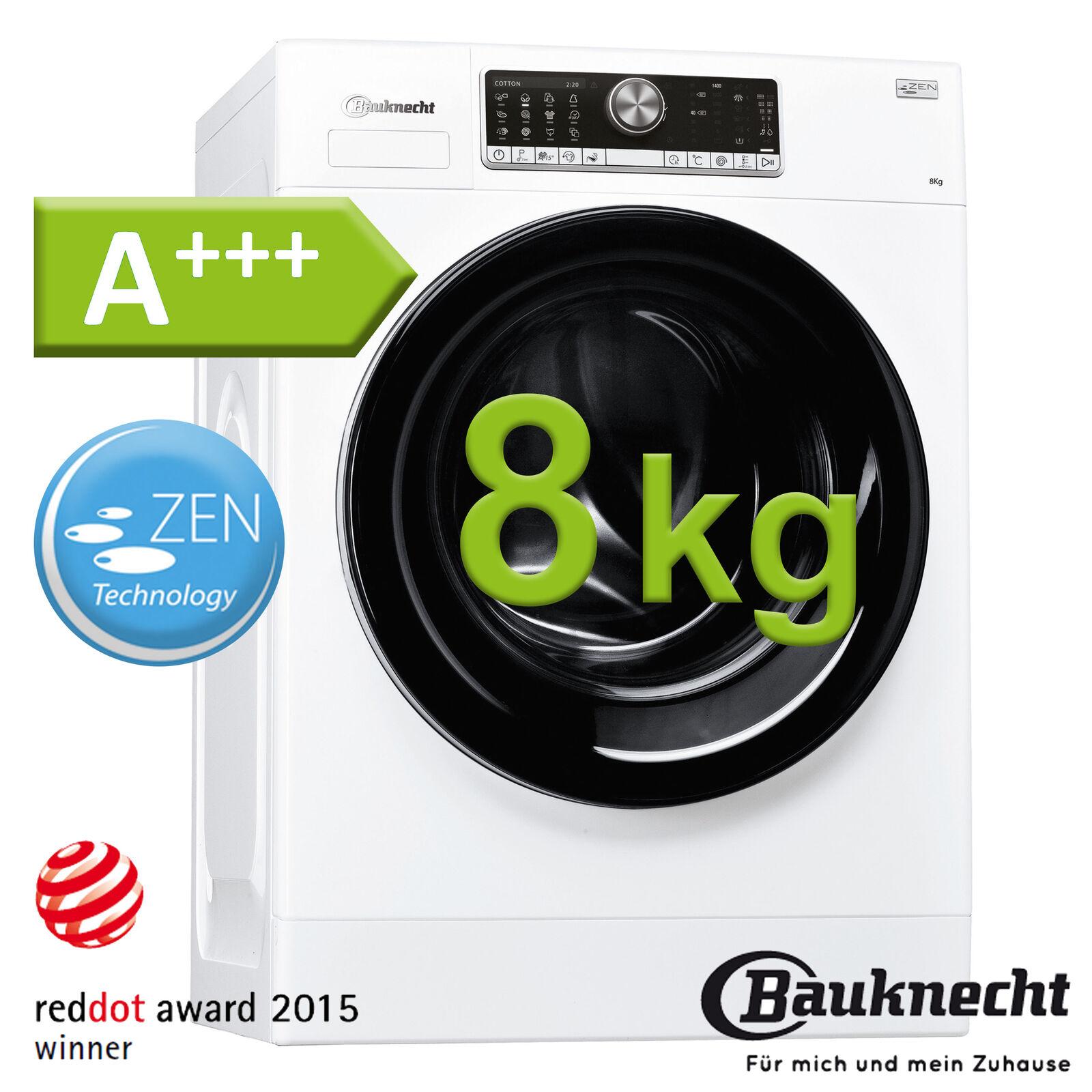 Waschmaschine A+++ 8 kg 1400 U/min Display Waschvollautomat Frontlader Bauknecht
