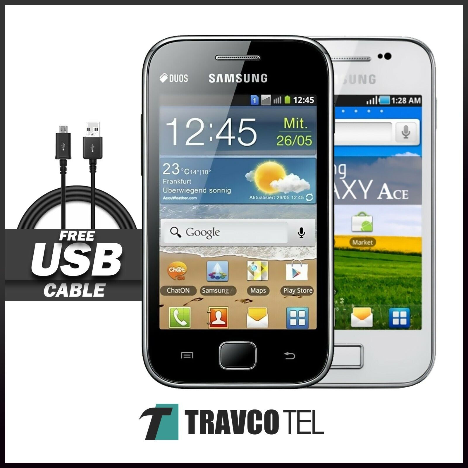 Android Phone - NEW 3G Samsung Galaxy Ace GT-S5830i Unlocked Android Basic Smart Phone UK 🔥🔥🔥