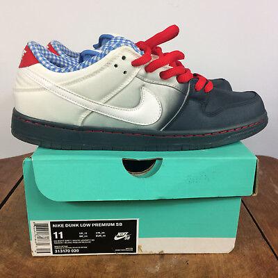 quality design 8978c fe658 New Mens Nike Dunk Low Premium Shoes SB Skateboard Vintage Red White Blue 11