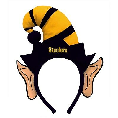 Pittsburgh Steelers Elf Ears Headband Holiday Hat NEW! Christmas Santa Helper - Christmas Elf Ears