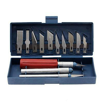 Hobby Knife Set Craft Razor Blade Kit Precision Multifunction Cutter 13PC NEW