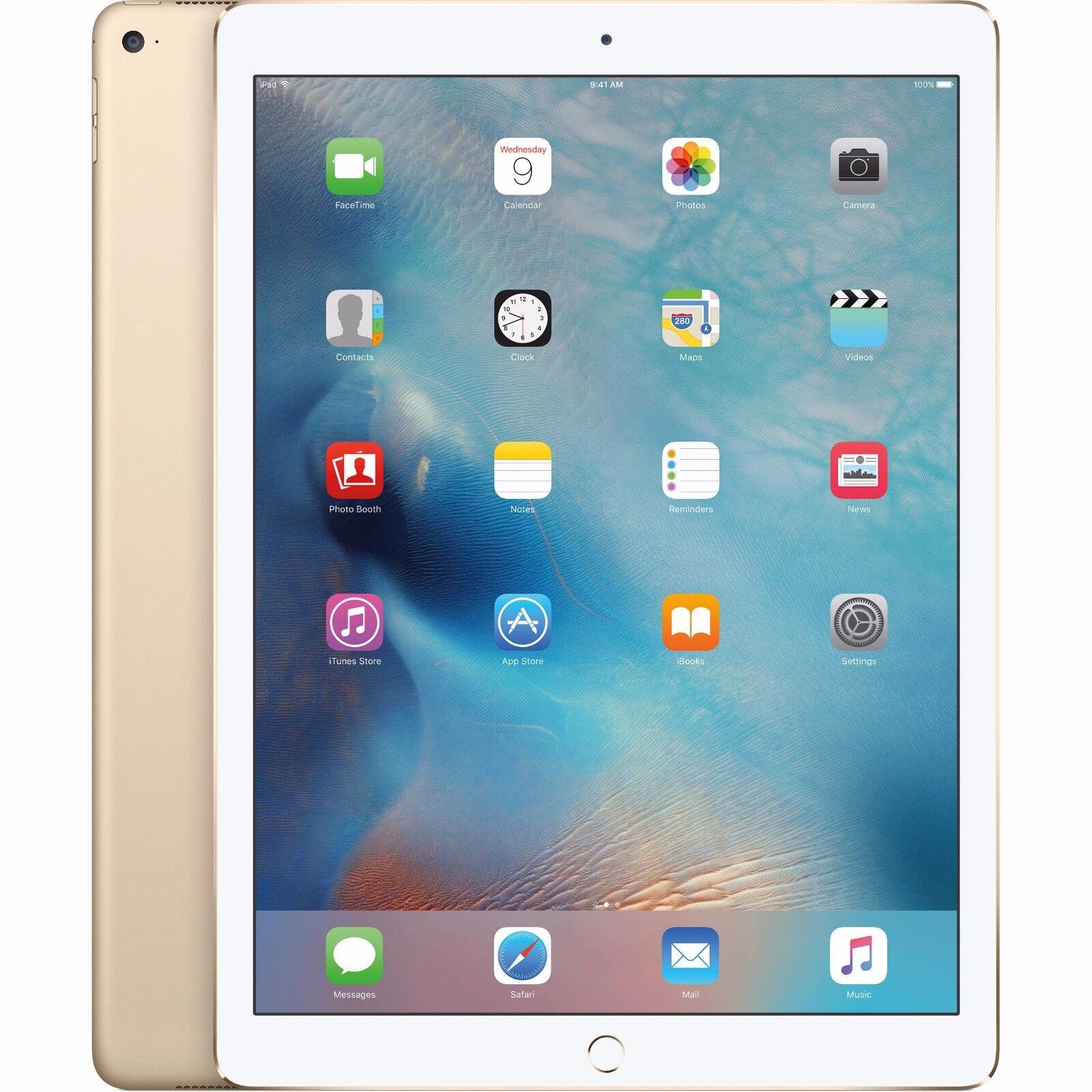 """Apple iPad 5th Gen 2017 32GB Wi-Fi + Cellular (Unlocked) 9.7"""" GOLD -GREAT (R-D)"""