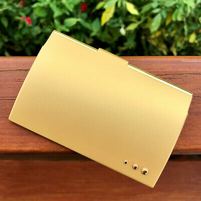 Matte Gold Pocket Stainless Steel Metal Business Card Holder Case Id Credit