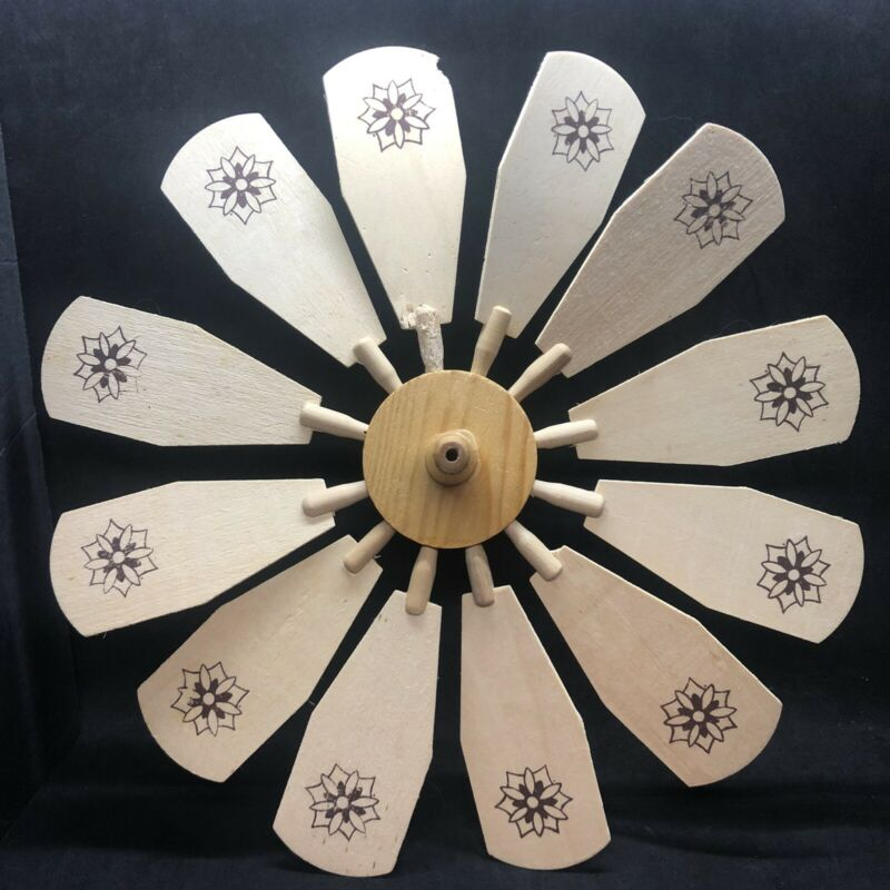 "Christmas Pyramid Nativity Windmill Carousel Replacement 4"" HUB & 12 Blades"